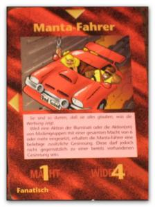 Illuminati Card Manta Fahrer